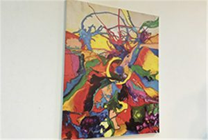 Canvas նմուշ տպագրվել է A1 չափի uv տպիչի WER-EP6090UV