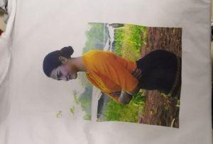 T-shirts տպագրության նմուշ համար Burma հաճախորդի WER-EP6090T տպիչի