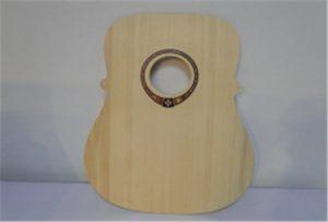 Wood կիթառի նմուշ A2 չափի տպիչի տպիչով WER-DD4290UV- ից